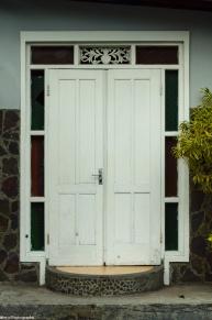 someone's front door.
