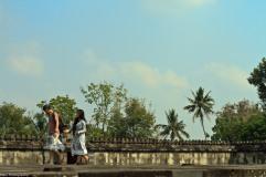 tourists walking on 'Pendopo' area