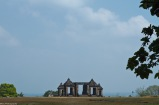 Ratu Boko's temple entrance, shot from afar.
