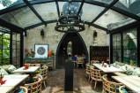 Inside Gardin Bistro Restaurant. Seminyak, Bali