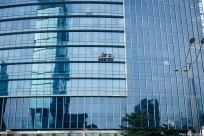Reflection, builings at Sudirman St. Jakarta